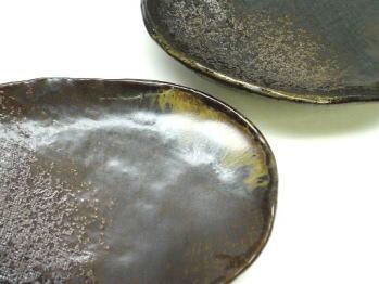 琥珀 小判皿
