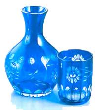 ガラス花切子水瓶