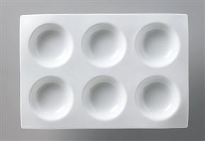 白磁タレ 仕切り皿